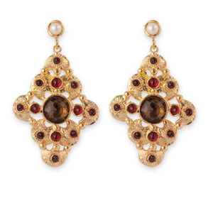 VICTORIA-BIANC DROP EARRINGS