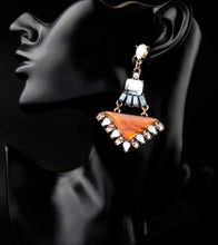 VALENCIA- ART DECO TRIANGULAR DROP EARRINGS
