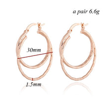 PAULA- DOUBLE HOOPED EARRINGS
