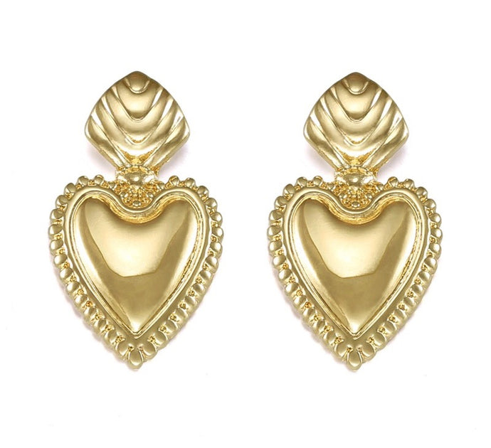 AMOREMIA- LOVE-HEART DROP STUDs