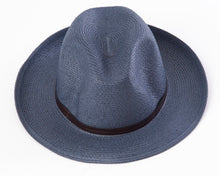 BORSALINO-NAVY PAPER FABRIC HAT