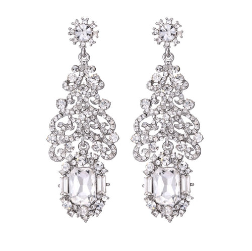 ALAYA- CRYSTAL CHANDELIER EARRINGS