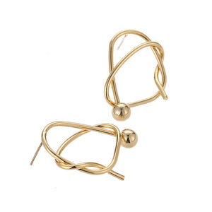 MYMESS- TWISTED BALL EARRINGS