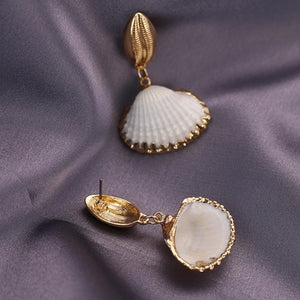 OCEANA- SHELL ON SHELL DANGLE EARRINGS