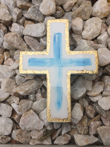 LEEMYSOUL CROSS- WHITE/BLUE