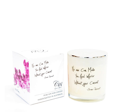 WOODEN WICK CANDLES- NO ONE CAN MAKE YOU INFERIOR WITHOUT YOUR CONSENT