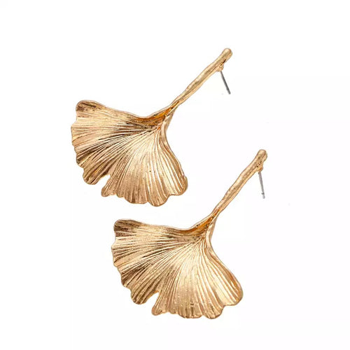 LOTUS- GOLD LEAF EARRINGS