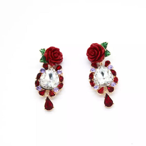 CARMELA- ROSE DROP EARRINGS- AVAILABLE FOR PRE_ORDER