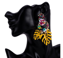 SAMBA- YELLOW PARTY LEAF EARRINGS