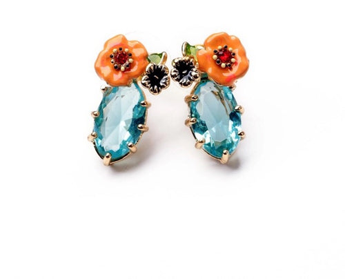 LUCILE- FLORAL EARRING