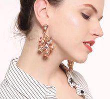 CINDERELLA- PINK CRYSTAL DROP EARRINGS