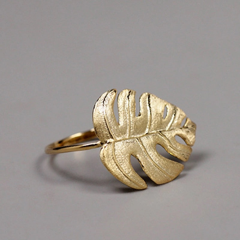 ELEFANTE - STERLING SILVER/GOLD PLATED RING