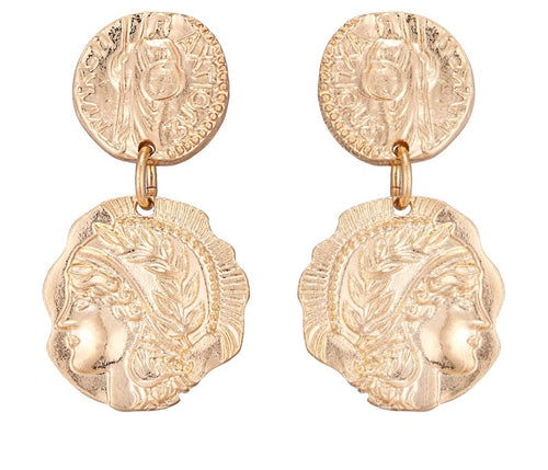 DEME- COIN DROP EARRINGS