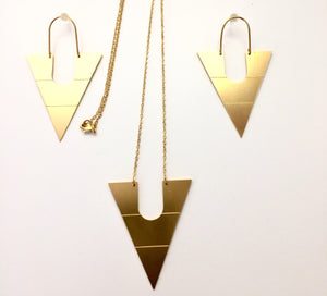 CLEOPATRA PYRAMIS COLLECTION PENDANTS-HANDMADE IN GREECE