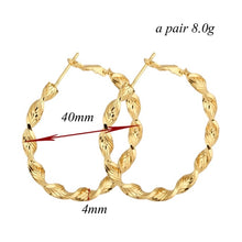 FEELE- BRAIDED GOLD HOOPS