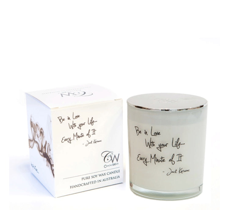 WOODEN WICK CANDLES- BE IN LOVE WITH YOUR LIFE, EVERY MINUTE OF IT