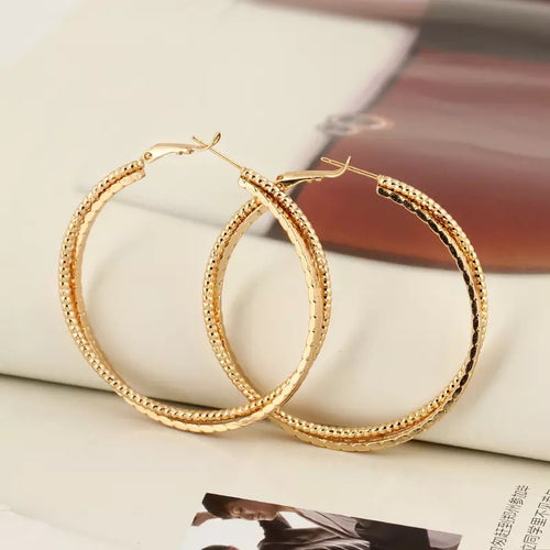 OLYMPIA- 3 CIRCLE HOOP- GOLD