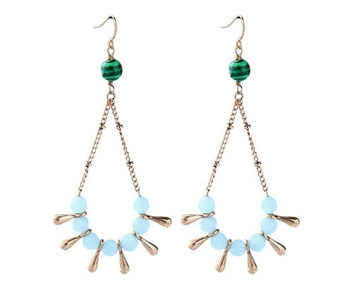 SANTO- DROP BEADED EARRINGS