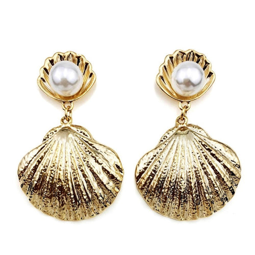 SHALA DROP SHELL EARRINGS