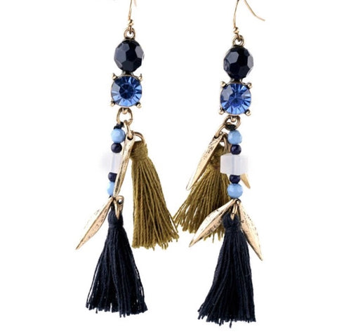 ELIA- TASSEL AND BEADED EARRINGS