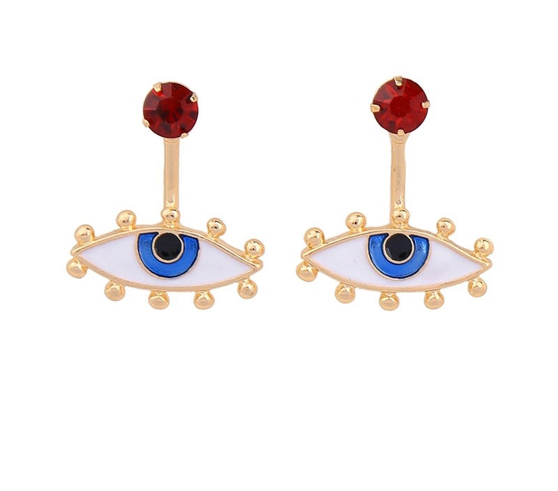 MATAKIA- 2 WAY EVIL EYE STUDS
