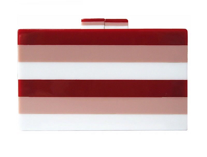 ISIO BOX CLUTCH-RED