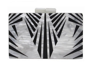 SALVADOR BOX CLUTCH-WHITE