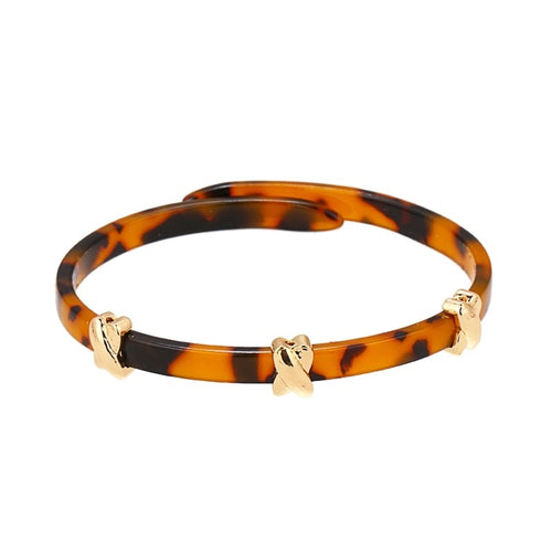 PARDI - ACRYLIC LEOPARD PRINT BANGLE