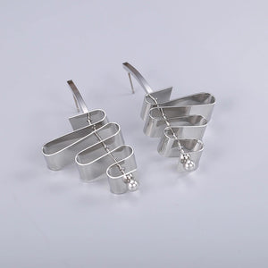 KYMA- TWIST EARRINGS- SILVER