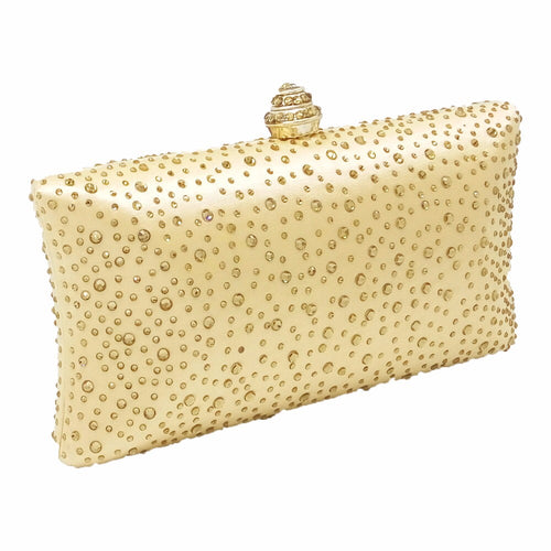 MAYA- CRYSTAL CLUTCH/BAG- CHAMPAGNE