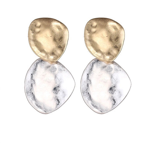 CHYKA- 2 WAY BUTTON EARRINGS