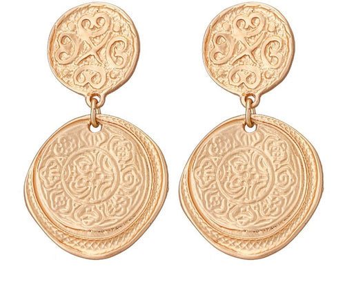 MAHALEP- COIN DROP EARRINGS