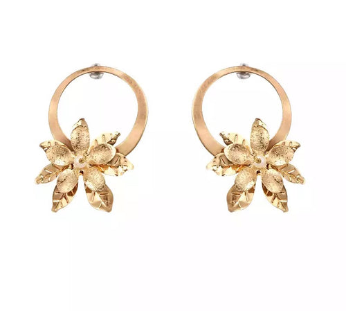 LOULOU- STUD FLOWER CHARM EARRINGS