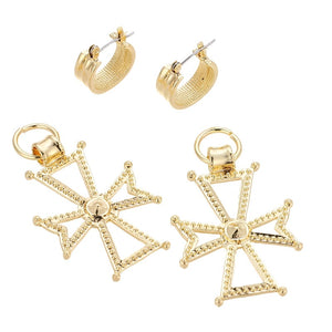 KHRISTI- CROSS CHARM EARRINGS
