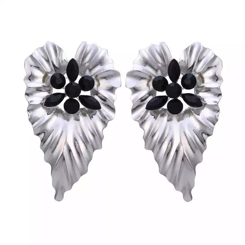 FIL-BIG LEAF STUD EARRINGS