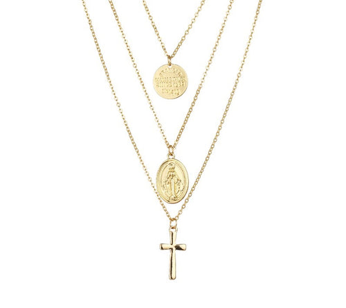 SAINT- 3 TIER NECKLACE
