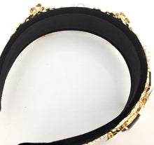 LOUISIANA- BLACK VELVET HEADBAND