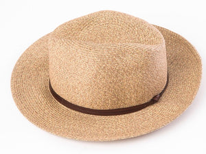 BORSALINO-COFFEE PAPER FABRIC HAT