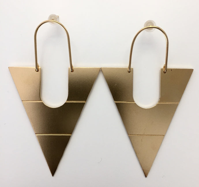 CLEOPATRA PYRAMIS EARRINGS-HANDMADE IN GREECE