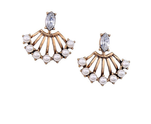 FANO- 2 IN 1 PEARLY EARRINGS