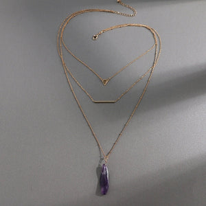 THYST- STONE LAYERED NECKLACE