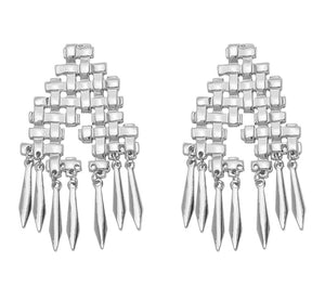 RANIA-GRID EARRINGS-GOLD