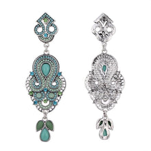 MYRA- SILVER RHINESTONE EARRINGS