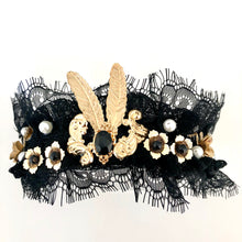HELENA- BLACK LACE HEADBAND/CROWN