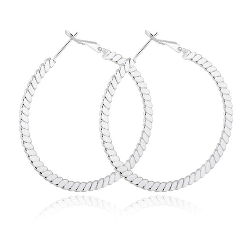 KEYLA- SILVER HOOP EARRINGS