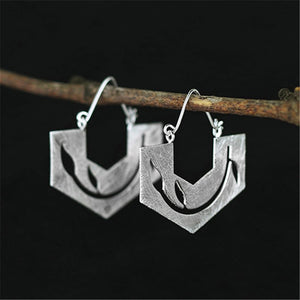 SITAR-STERLING SILVER HOOP EARRINGS
