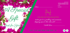 Gift Voucher - A special gift for someone you love!