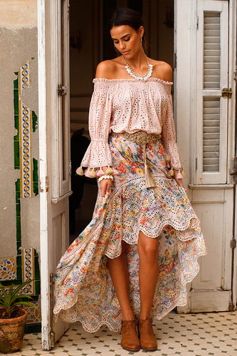 MISS JUNE PARIS- GEMMA MAXI SKIRT- FLORAL M-100