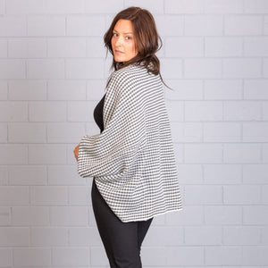 JJ SISTERS TILE SHRUG/CARDIGAN SS33- GREY