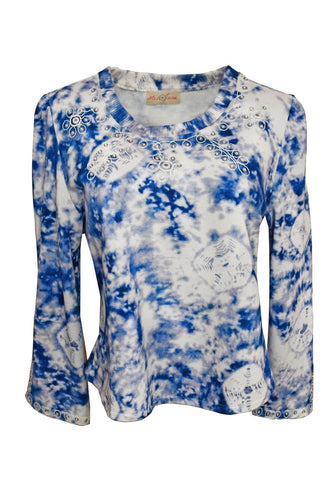 MISS JUNE PARIS- ZIGGY TIE DYE SWEATER -T29 2 COLOURS